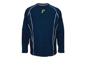 Fleece Majestic bleu marine avec manches coupables logo Felix-Leclerc brodé