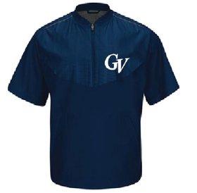 Manteau Majestic manches courtes bleu marine logo Georges-Vanier brodé