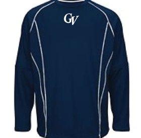 Fleece Majestic bleu marine avec logo GV brode