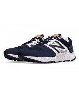 New Balance Athletic shoe inc New Balance T3000NB3 turf navy and white