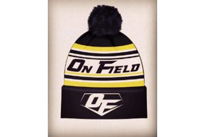 On Field On Field tuque pompon noir/jaune