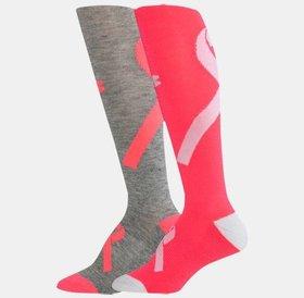 Under Armour Under Armour Power In Pink Crew Socks 2Pair Womens Medium 7-10.5