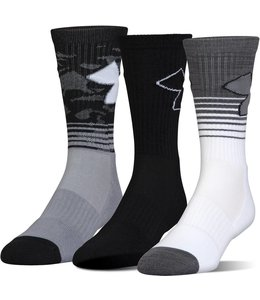 Under Armour Under Armour Phenom Performance Socks (3pack) Silver/Black
