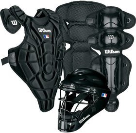 Wilson Wilson EZ Catcher gear Kit L-XL ages 7-12 Black