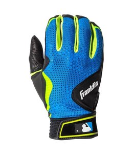 Franklin Franklin FreeFlex Batting Gloves Black/ElectricBlue/Lime