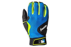 Franklin Franklin FreeFlex Batting Gloves Black/ElectricBlue/Lime