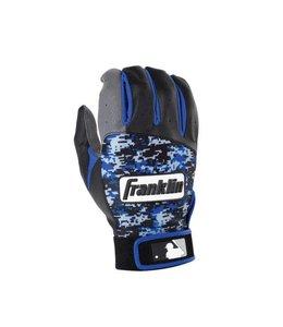 Franklin Franklin Digitek Batting Gloves Black/Grey/Blue Camo