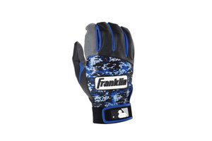 Franklin Franklin Digitek Batting Gloves Black/Grey/Blue Camo