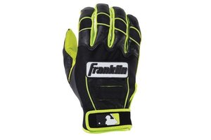 Franklin Franklin CFX Pro Revolt Batting Gloves Black/Black/Lime