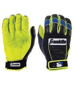 Franklin Franklin CFX Pro Revolt Batting Gloves Black/Blue/Lime