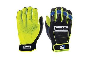Franklin Franklin CFX Pro Revolt Batting Gloves Black/Blue/Lime