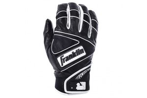 Franklin Franklin The Powerstrap Batting Gloves black/Black