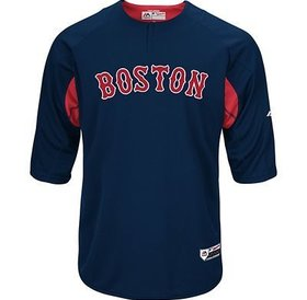 Majestic Majestic On-field 3/4 sleeve BP trainer Red Sox