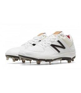 New Balance Athletic shoe inc New Balance Low 3000 White/Silver Mens Shoe