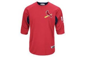 Majestic Majestic On-field 3/4 sleeve BP trainer Cardinals