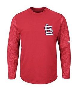 Majestic Majestic Mens authentic On-Field Tech Fleece - St. Louis Cardinals