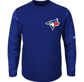 Majestic Majestic Mens authentic On-Field Tech Fleece - Toronto Blue Jays