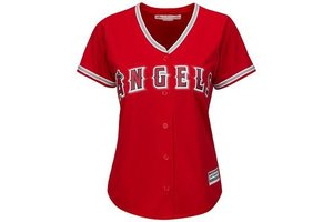Majestic Majestic Womens Cool Base® Alternate Jersey - Los Angeles Angels of Anaheim