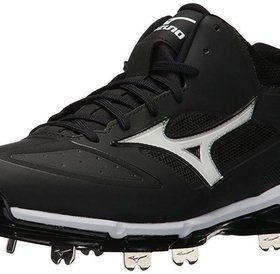 Mizuno Mizuno Dominant IC Mid Metal Cleats Mens Shoe Black/White