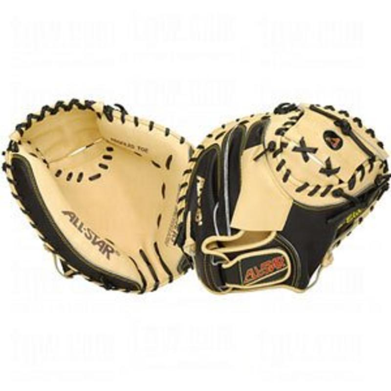 All Star All Star Professional Series Catcher's Mitt Tan/Black CM3000