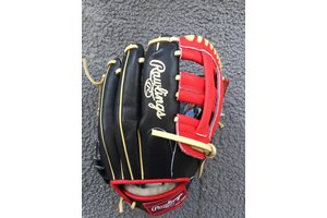 Rawlings Rawlings Pro Preferred Glove of the Month PRODJ2B-BOG Black/Camel/Red 11.5'' RHT