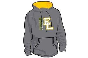 Authentic t-shirt company Elites de Lanaudiere kangourous gris avec logo Elites 2017