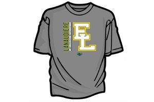 Authentic t-shirt company Elites de Lanaudiere t-shirt dry-fit gris avec logo Elites 2017