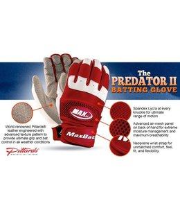 MaxBat MaxBat Predator II Batting Gloves