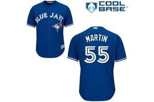 Majestic Majestic Toronto Blue Jays blue Replica Jersey Russell Martin