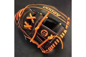 Wilson Wilson A2000 Superskin Glove of the Month June 1787 11.75'' RHT Black/Orange