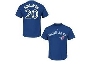 Majestic Majestic player name and number deep royal t-shirt Josh Donaldson