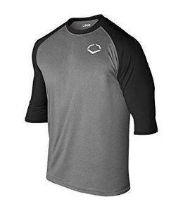 EvoShield Evoshield Adult 3/4 Sleeve Performance Baseball Shirt large