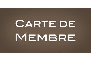Carte de membre annuelle