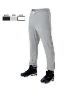 All Star All Star Baseball Pants Youth Poly Pull-Up Pants Grey