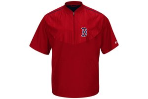 Majestic Majestic Red Sox Training Jacket Short Sleeve