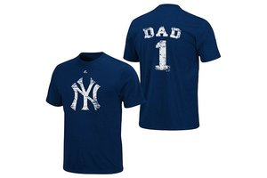 Majestic Majestic Number 1 Dad Distressed Tshirt