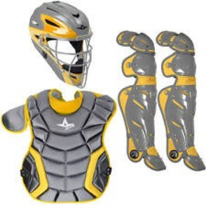 All Star All-Star System 7 Elite Travel Team Catching Kit Graphite-Gold 12-16