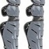 All Star All-Star System 7 Camo Pro leg guard grey and Black 12-16