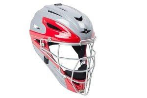 All Star Allstar - System 7 Catcher helmet MVP2500 two tone scarlet/grey