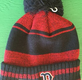 New Era New Era Glacial Pom Knit Boston Red Sox