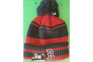 New Era New Era Glacial Pom Knit Boston Red Sox