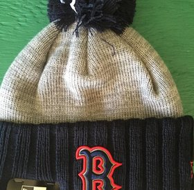New Era New Era Reflected Frost Boston Red Sox Pom Knit