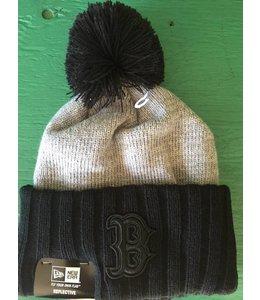 New Era New Era Reflected Frost Boston Red Sox Pom Knit Grey/Black