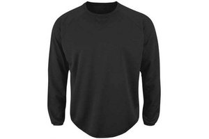 Majestic MAJESTIC PREMIER HOME PLATE TECH FLEECE MEN'S CREW NECK BASEBALL PULLOVER BLACK L
