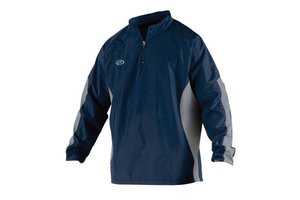 Rawlings Adult Long Sleeve Jacket 1/4 Zip Front NAVY M