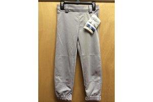Louisville Slugger LS Pull-Up grey youth baseball Pant W/BELT loops small