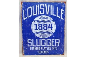 On Field OF Louisville Slugger since 1884 Poster - royal blue