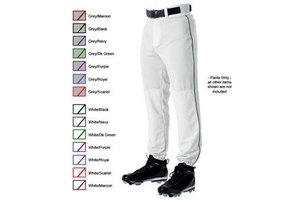 Alleson Alleson Pant 3/4 youth white with piping