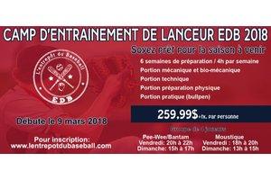 Programme Camp d'entrainement de lanceur 2018 moustique (2007-2008)