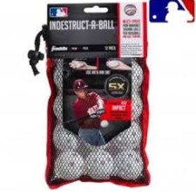 "Franklin Franklin MLB® 5"" Indestruct-A-Balls Micro Baseball-White"